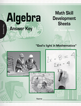 Algebra math skill development sheets ak