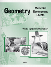 Geometry math skill development sheets