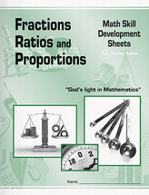 Fractions ratios and proportions math skill development sheets