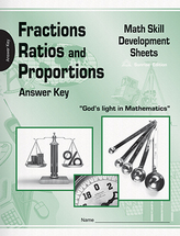 Fractions ratios and proportions math skilll development sheets ak