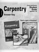 Carpentry teacher materials