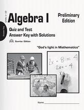 Algebra i preliminary edition ak