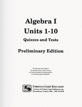 Algebra i preliminary edition quizzes and tests