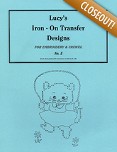 Lucy's iron on transfer design no.5