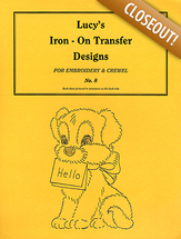Lucy's iron on transfer design no.8
