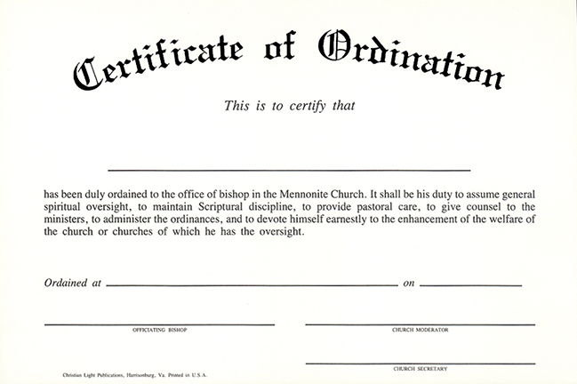 Christian light publications for Ordination certificate template
