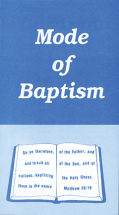 Mode of baptism