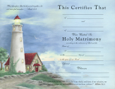Marriage certificate lighthouse