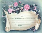 Marriage certificate scroll