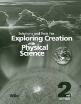 Exploring creation with physical science solutions tests