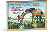 My animal friends coloring calendar