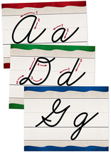 Cursive alphabet wall cards