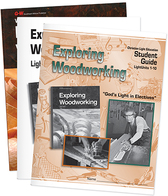 Exploring woodworking student