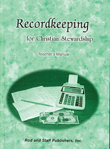 Record keeping for christian stewardship teacher's manual