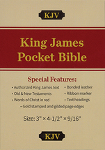 King james pocket bible