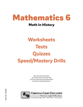 Mathematics 6   math in history student pack