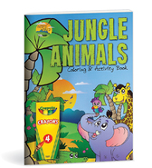 Jungle animals coloring and activity book
