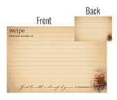Simply organized 4x6 recipe cards w back