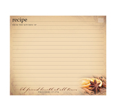 Simply organized 5x6 recipe card