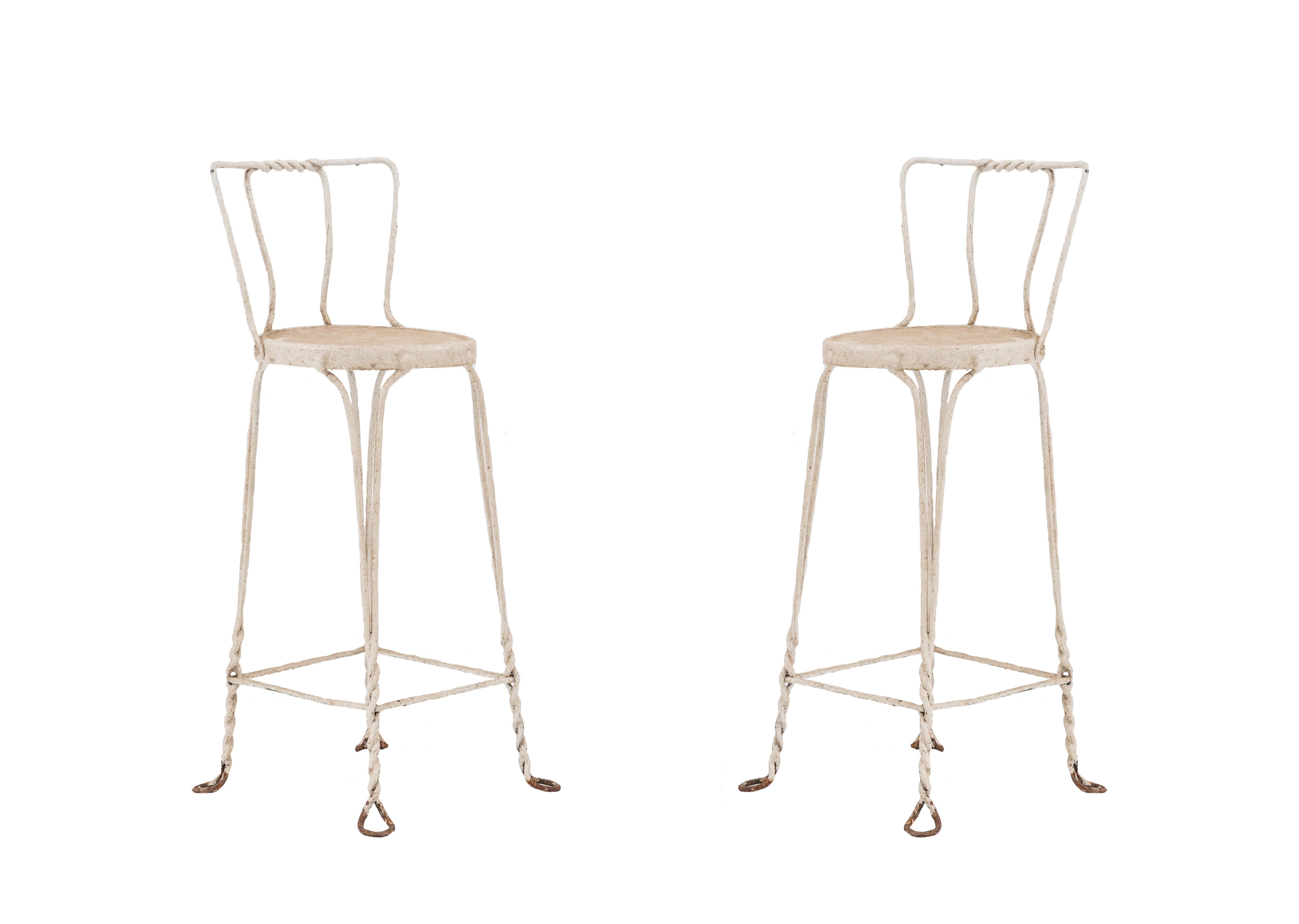 Amazing Outdoor Victorian Wire Bar Stools Newel Inzonedesignstudio Interior Chair Design Inzonedesignstudiocom