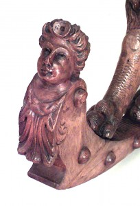 Italian Venetian Fruitwood Rocking Chair Newel