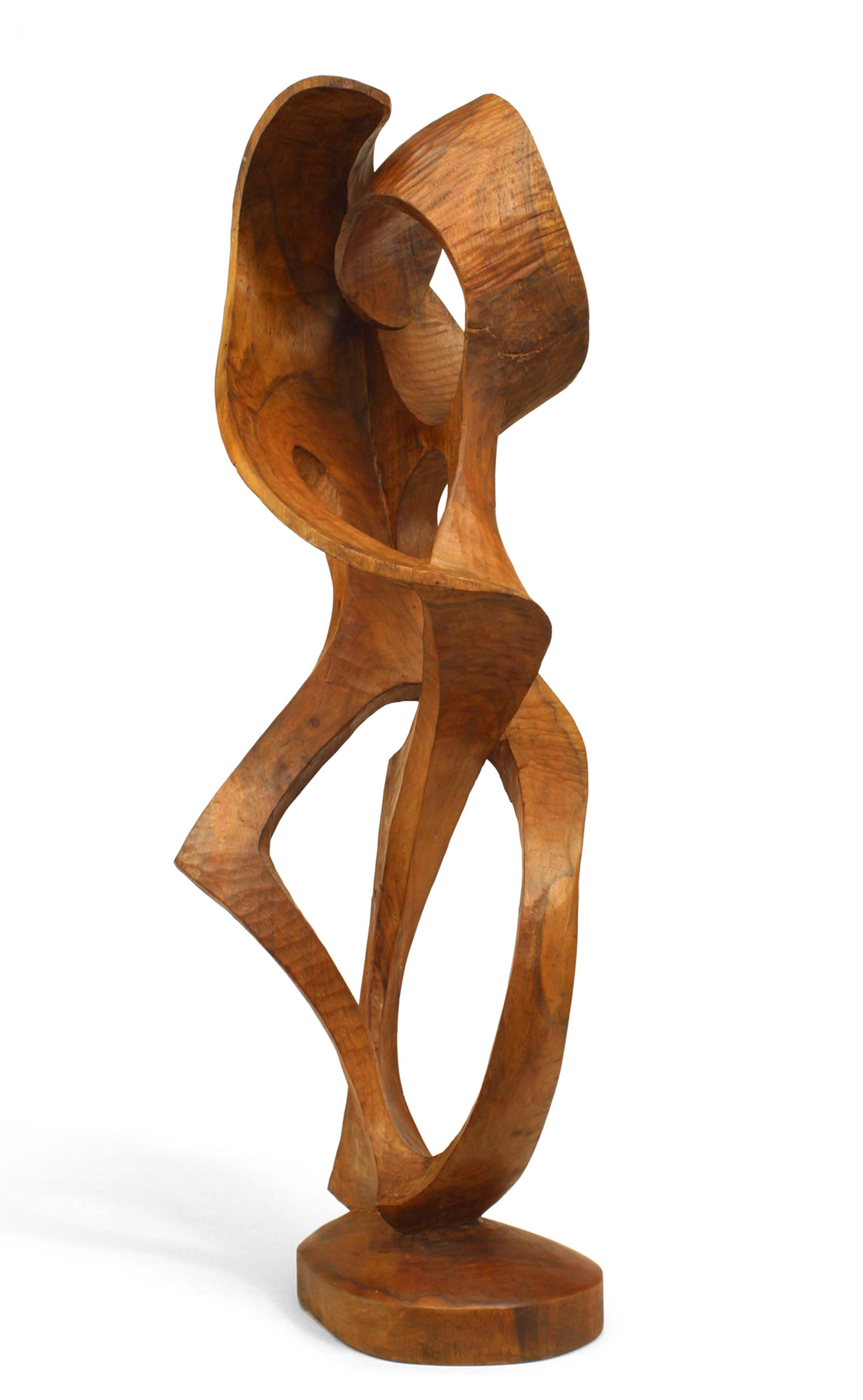 Contemporary Maple Abstract Carved Sculpture