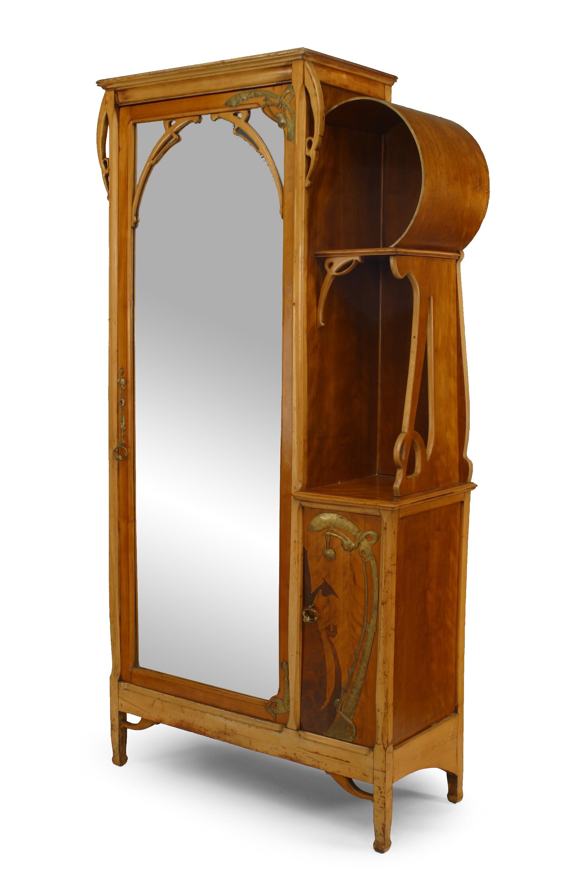 Chaise Style Art Nouveau french art nouveau maple armoire