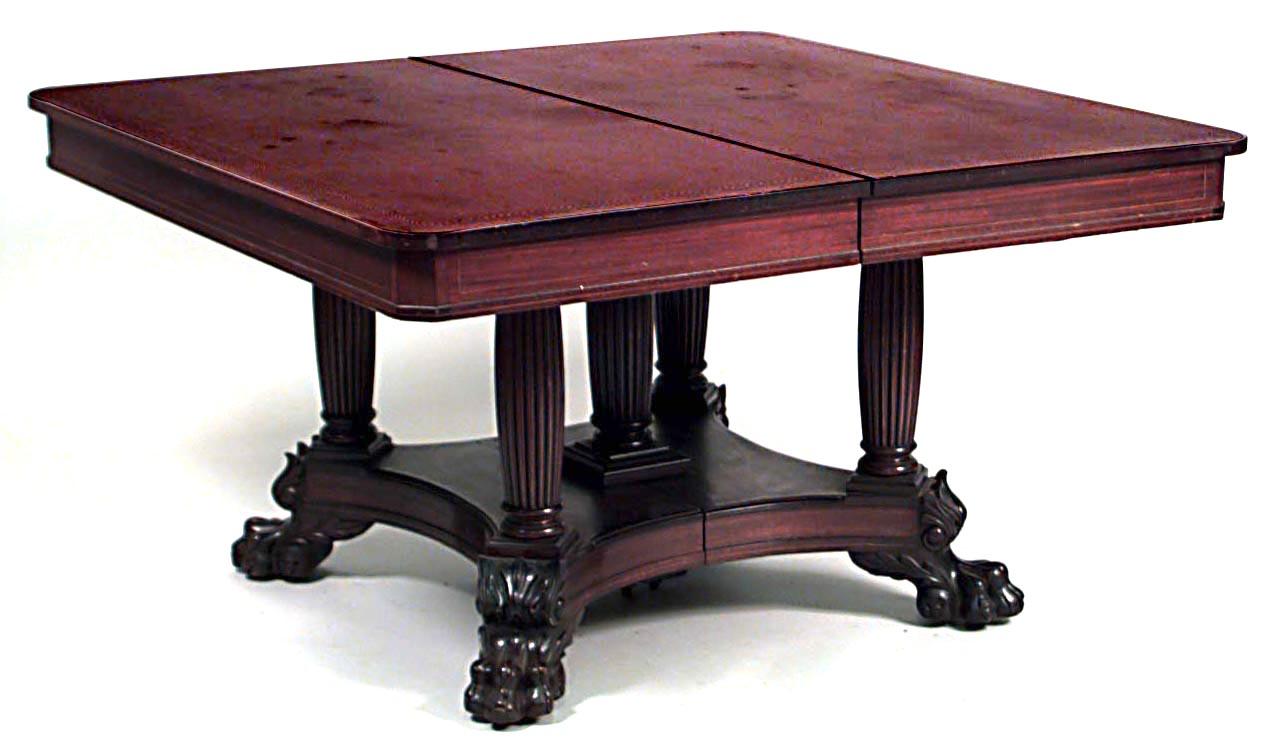 American Empire Mahogany Dining Table 1