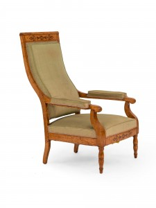 French Charles X Maple Arm Chair Newel