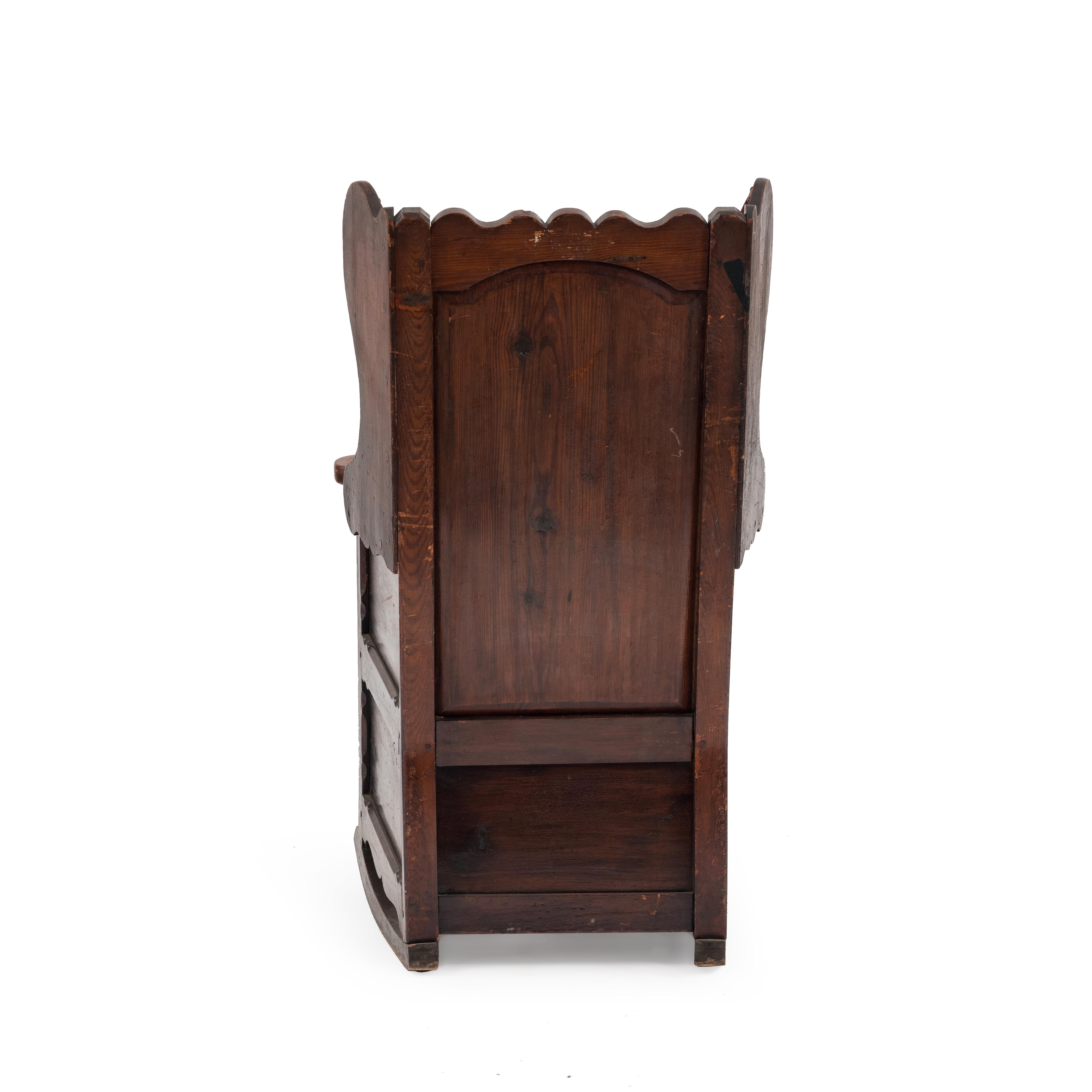 Terrific English Country Winged Pine Rocking Chair Newel Gamerscity Chair Design For Home Gamerscityorg