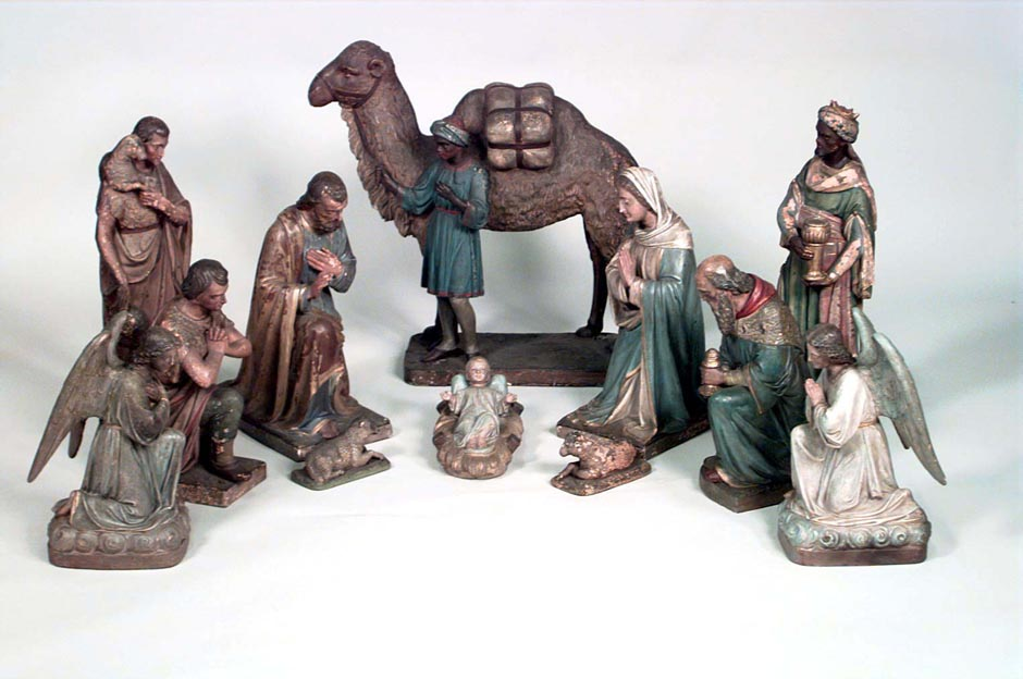 Italian renaissance terra cotta nativity