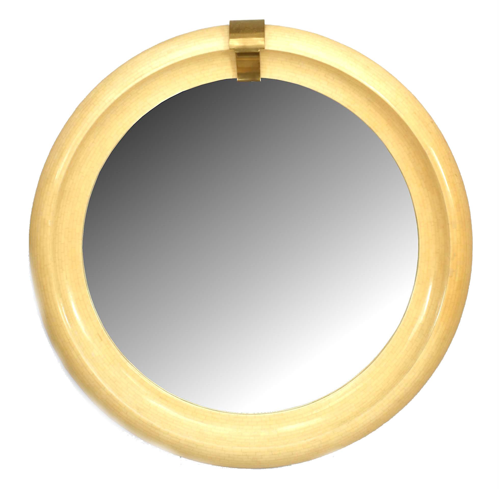 Mid Century Modern Springer Round Wall Mirror