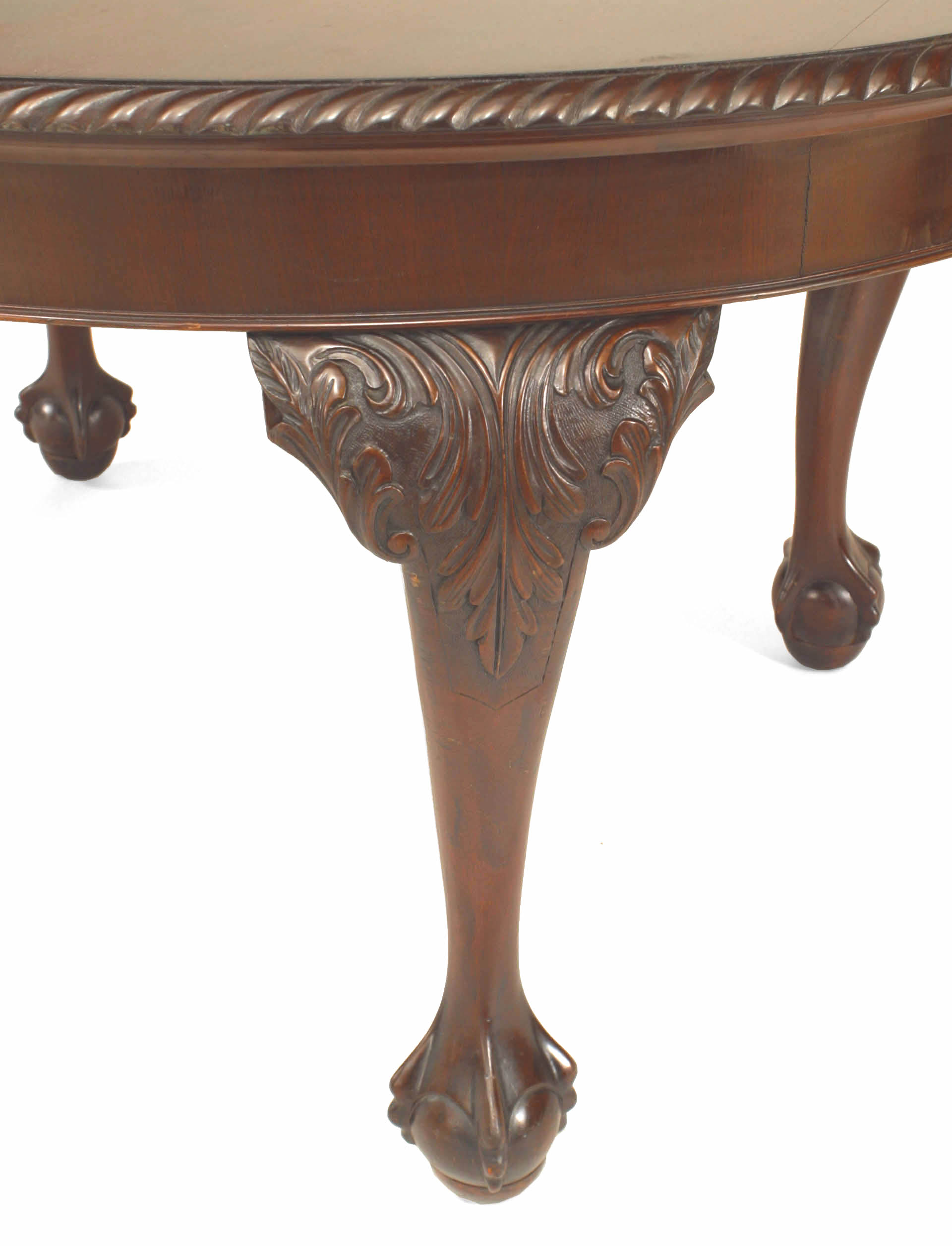 English chippendale style oval mahogany dining table