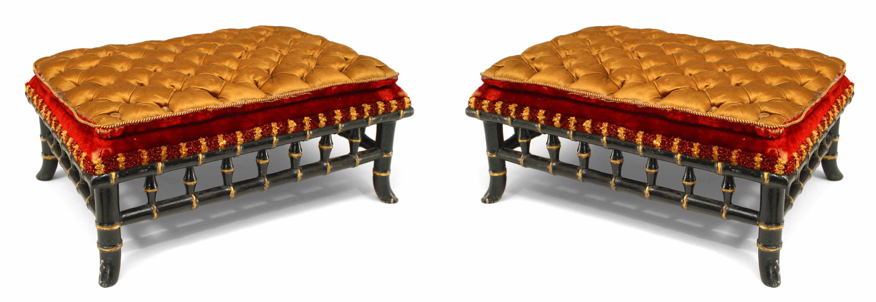 Terrific French Victorian Gold And Red Foot Stool 1 Newel Pdpeps Interior Chair Design Pdpepsorg