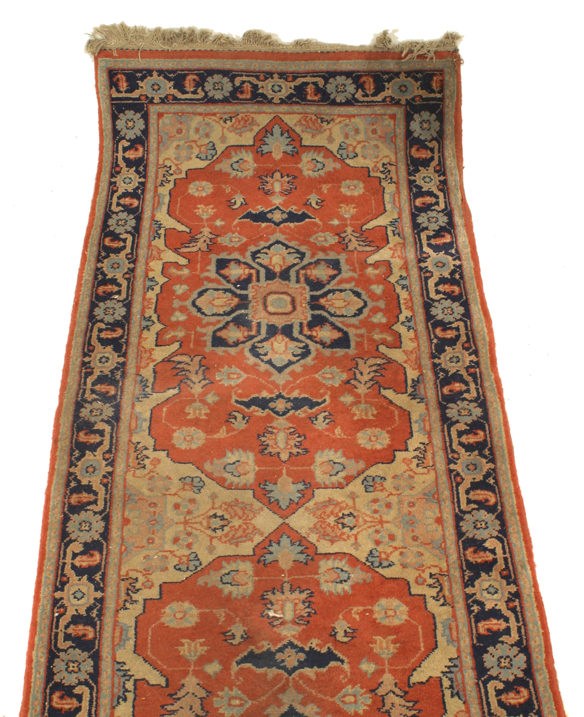 Persian Style Red Beige And Blue Runner Carpet 1 Newel