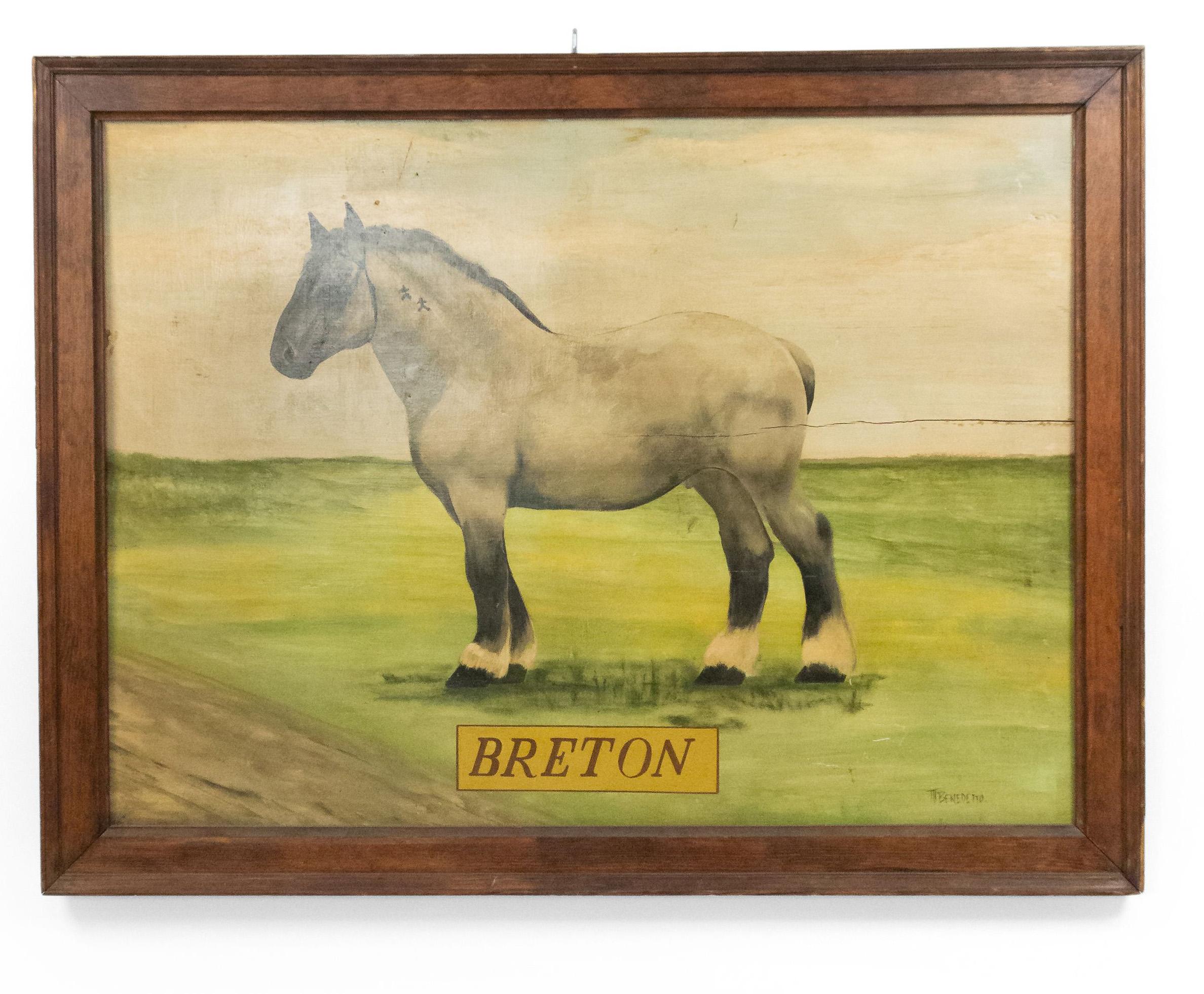 Deco De Table Bretonne american country horse breton painting 1