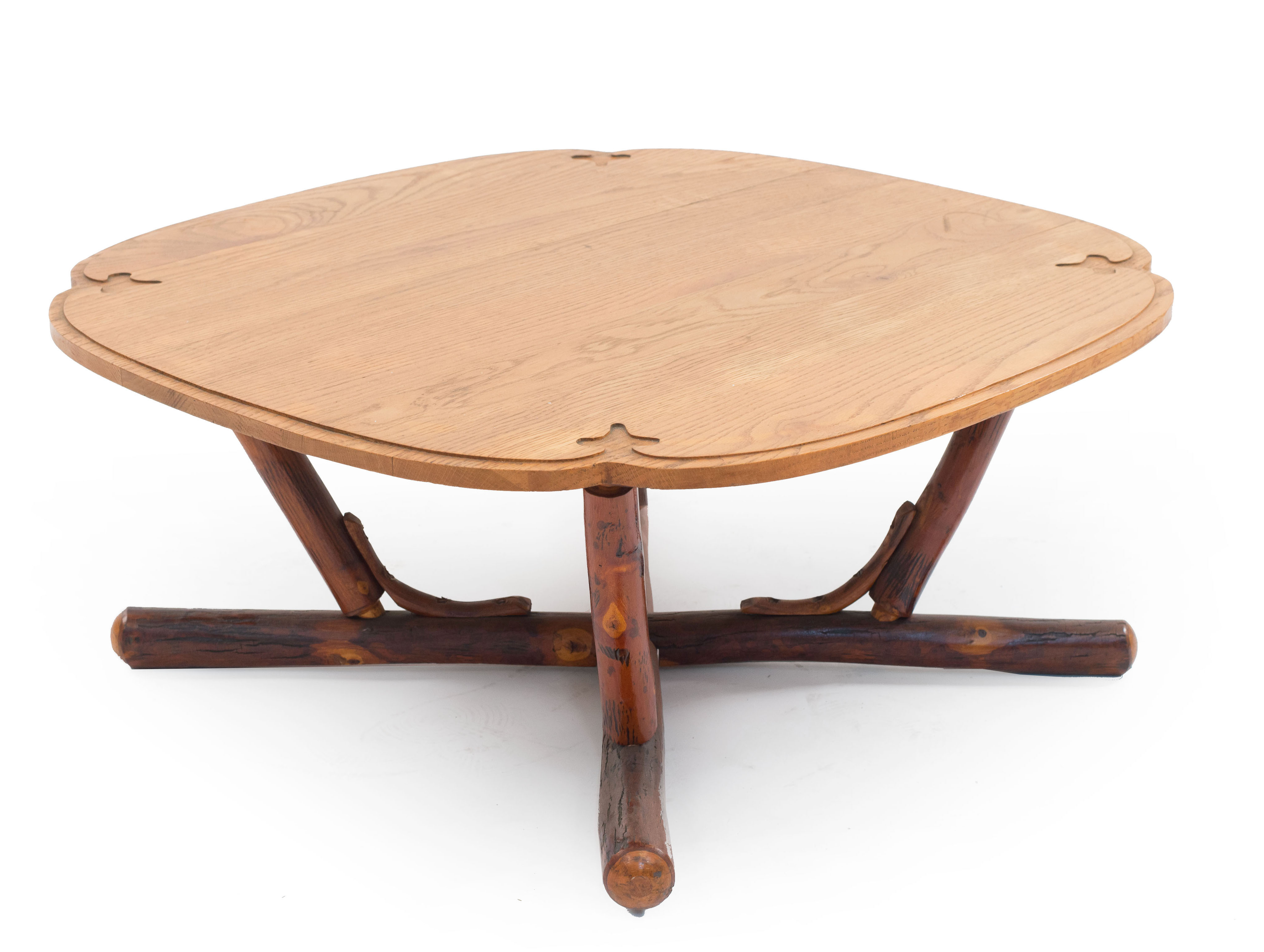 Cool Rustic Old Hickory Oak Coffee Table 1 Newel Machost Co Dining Chair Design Ideas Machostcouk