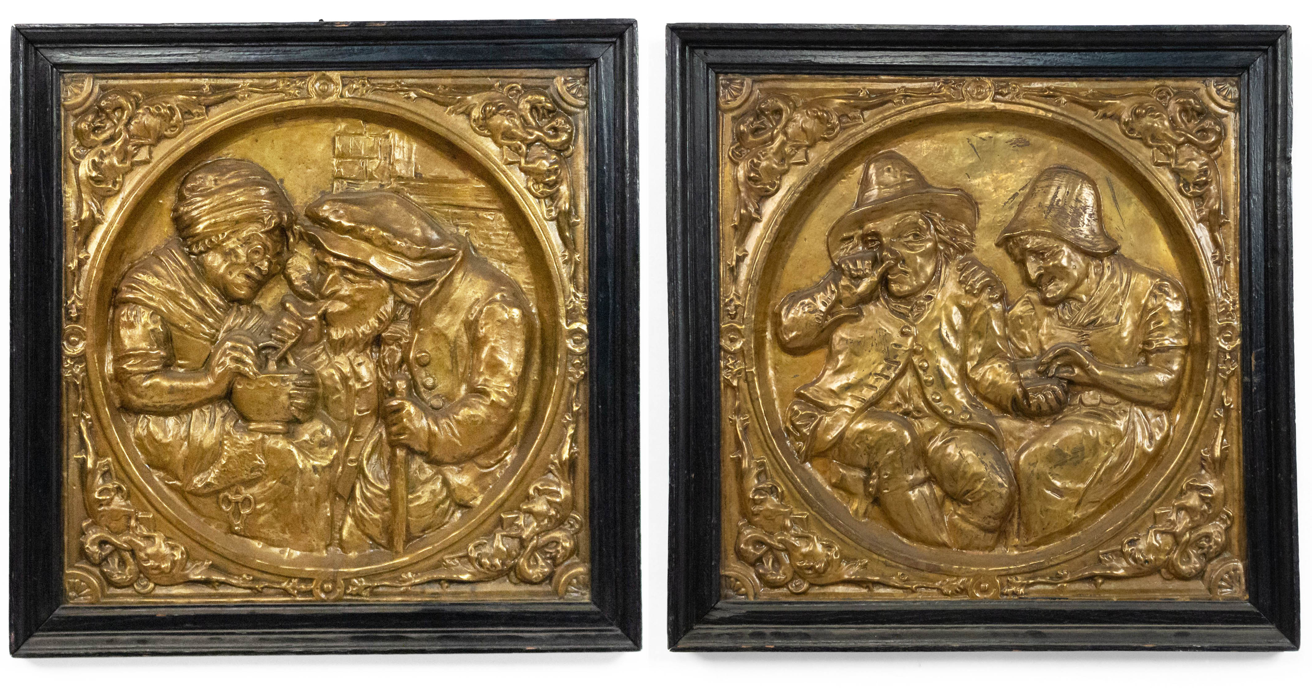Image of: Italian Renaissance Brass Embossed Wall Plaques