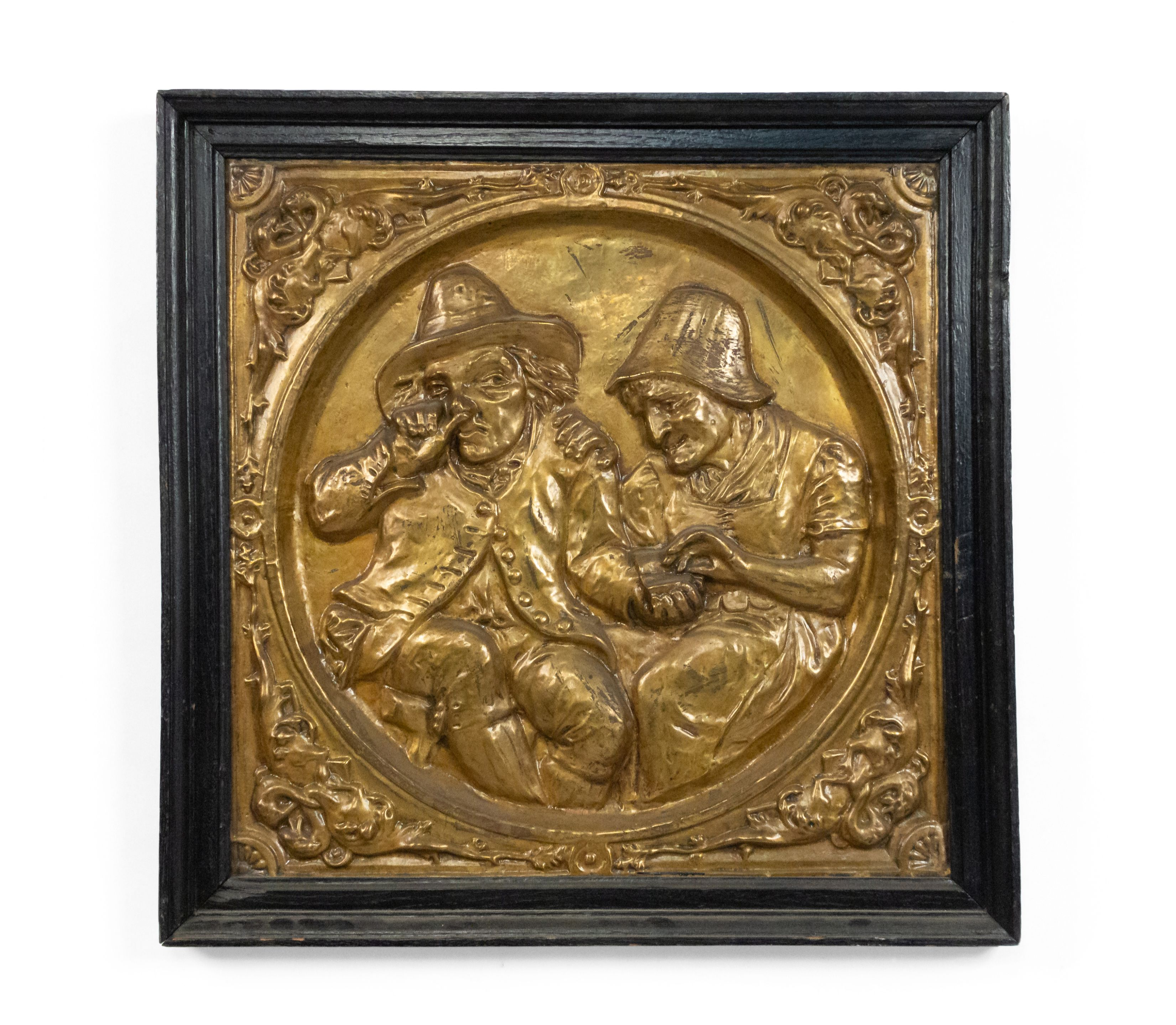 Italian Renaissance Brass Embossed Wall Plaques