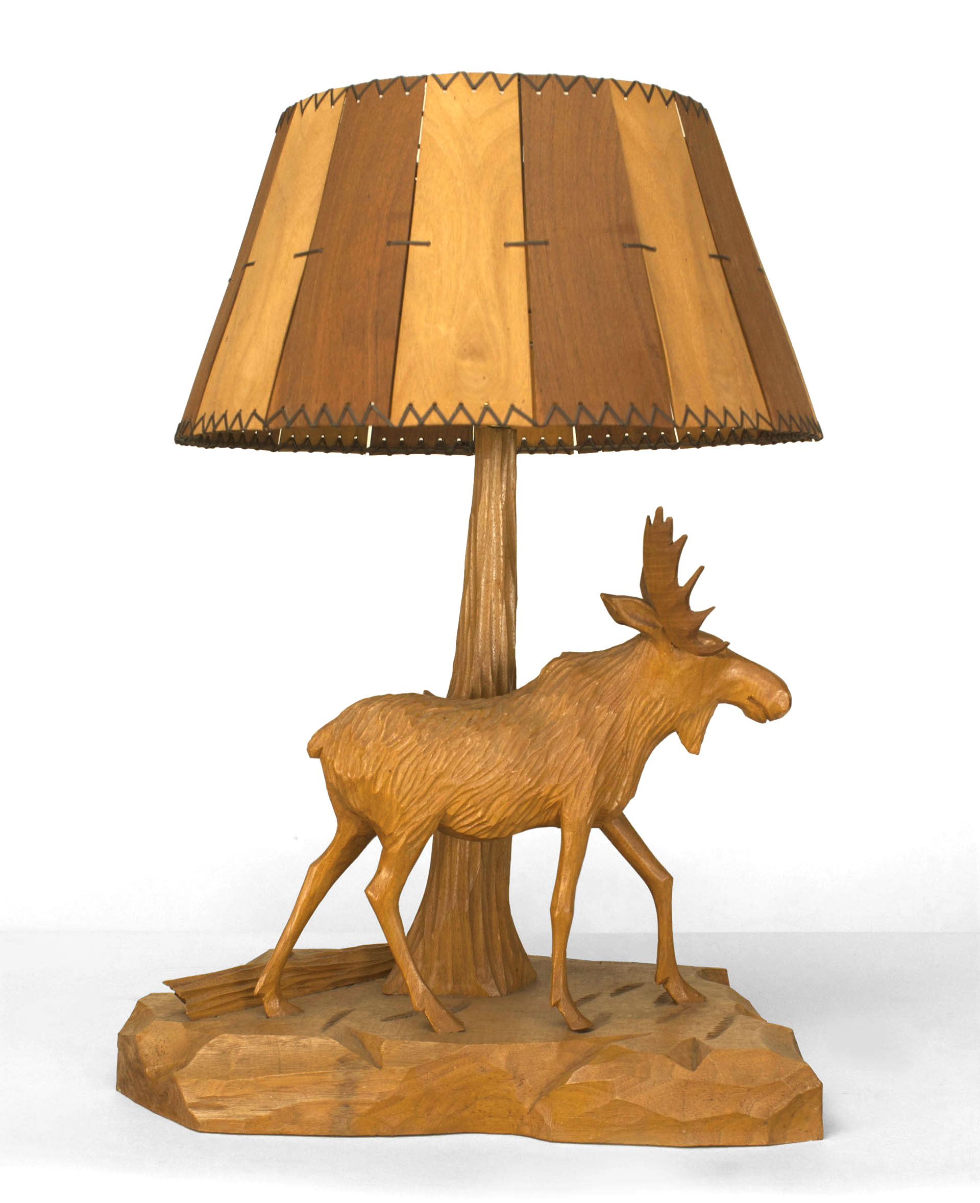Rustic adirondack style poss canadian 20th cent stained maple table lamp maple in stock 285000 aloadofball Gallery