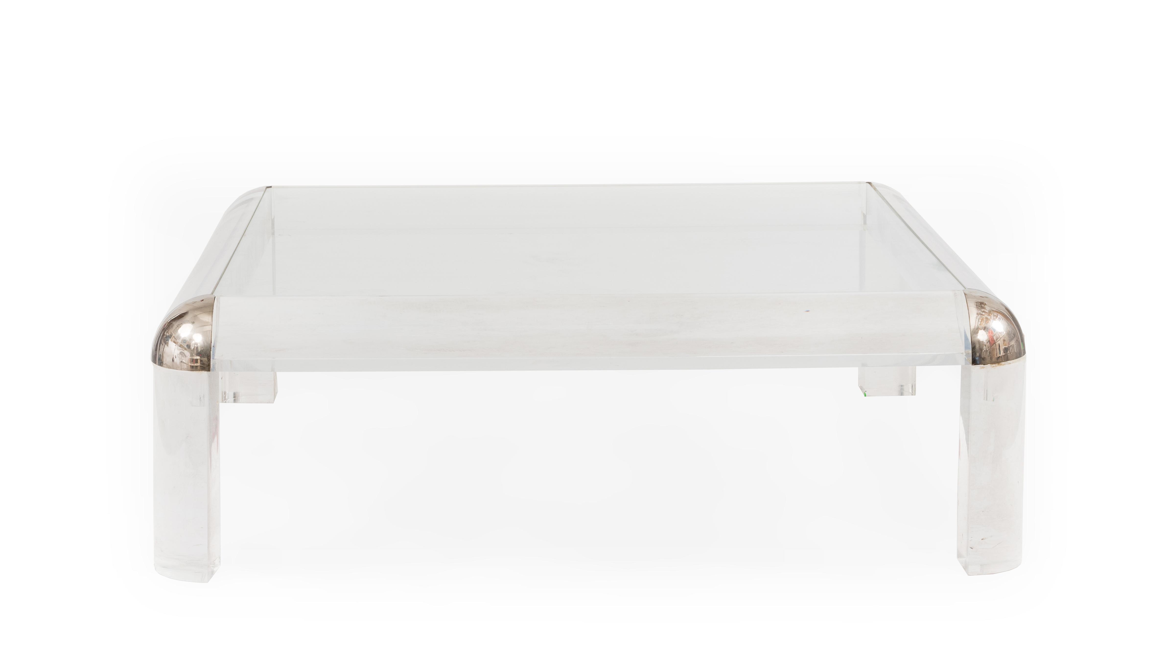 Karl Springer Karl Springer Coffee Table Lucite Glass
