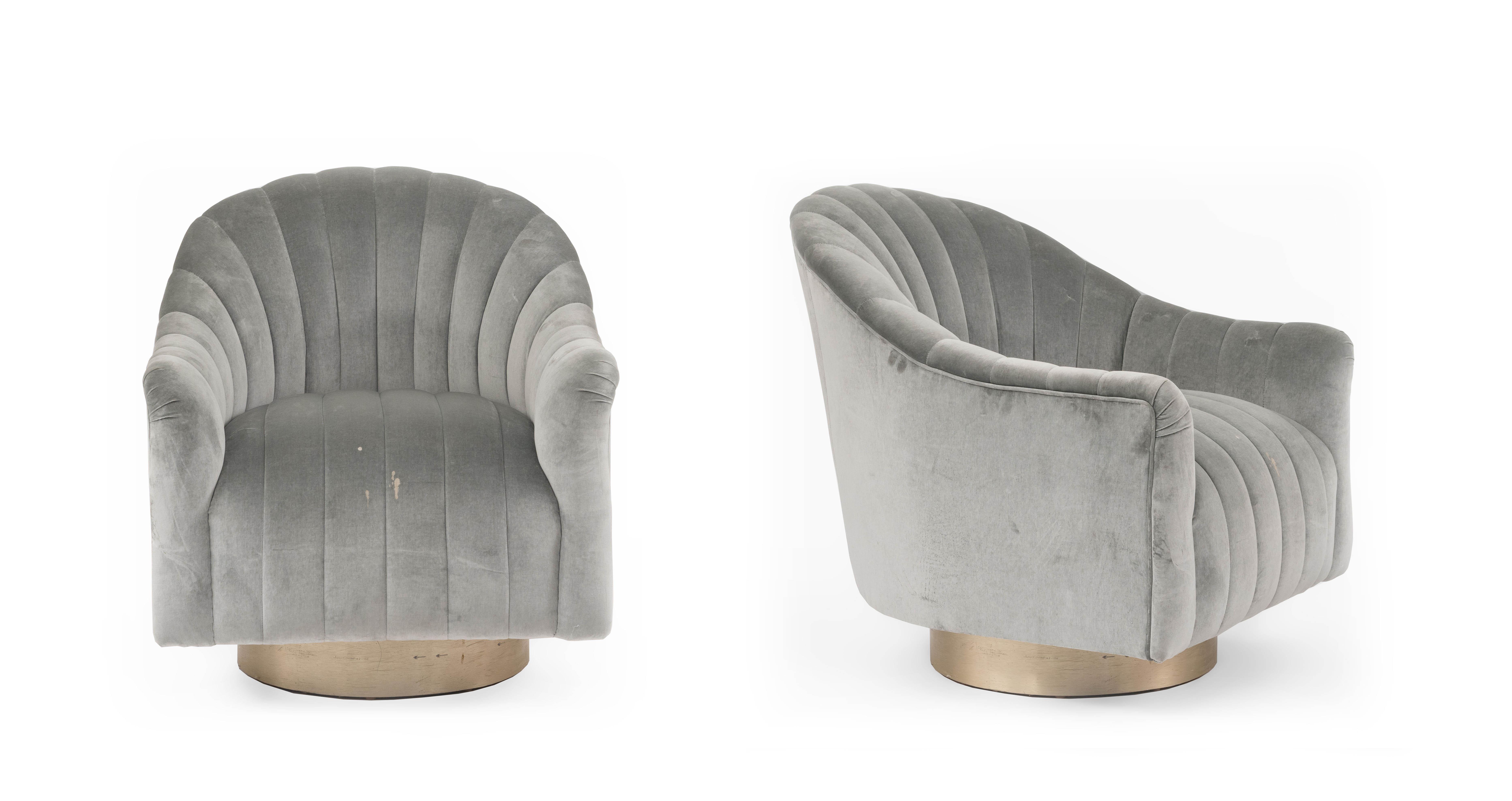 ... Swivel Chair  U003e Velvet In Stock $ 2750.00