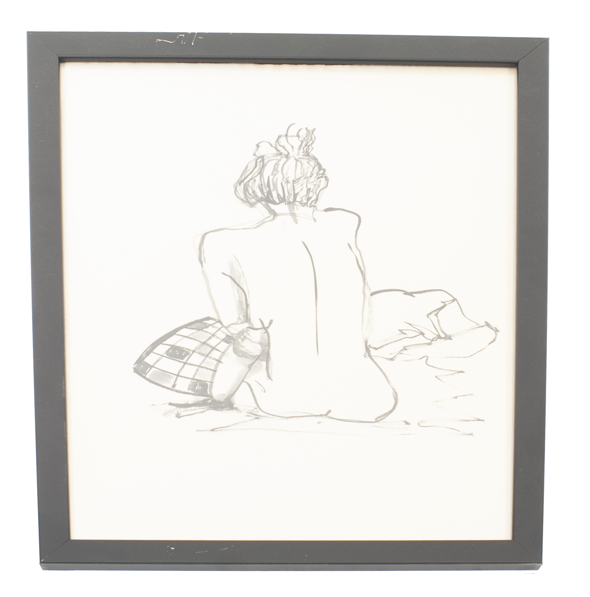 contemporary abstract black and white drawing of a person from