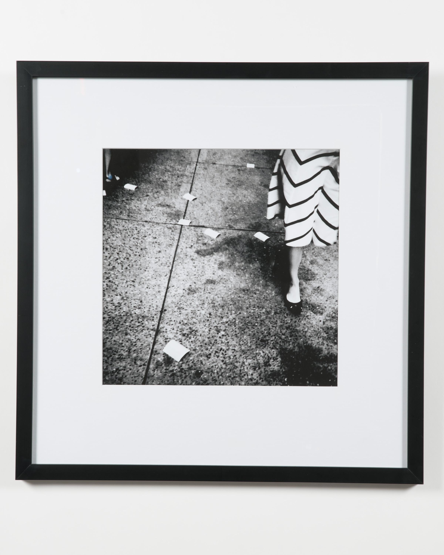 Black and white photograph art print in a black resin frame under plexiglass see also bat011 bat013 bat014 bat015 bat010 contemporary post war