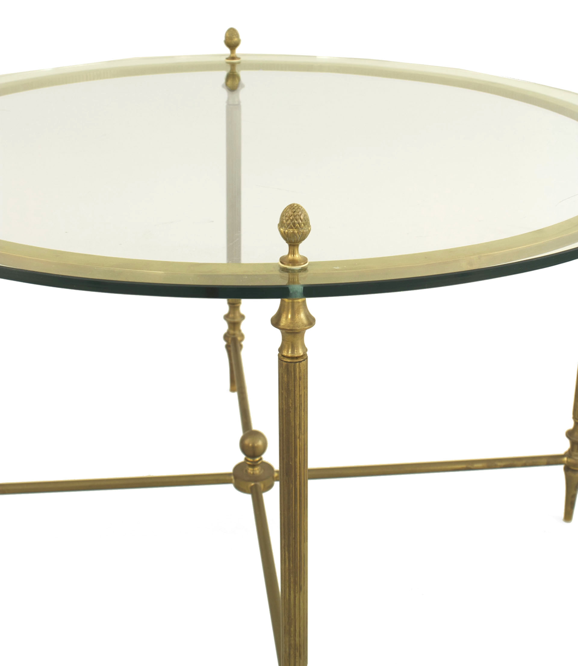 Picture of: American Brass And Glass Coffee Table
