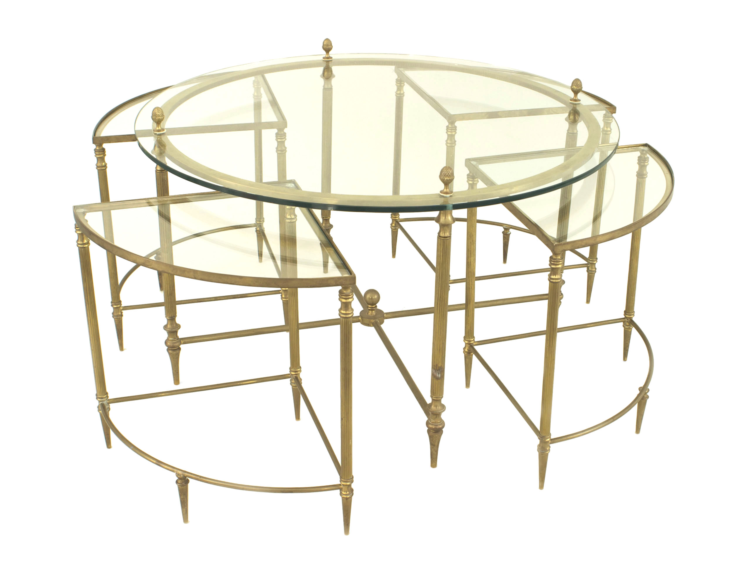 American Brass And Glass Coffee Table