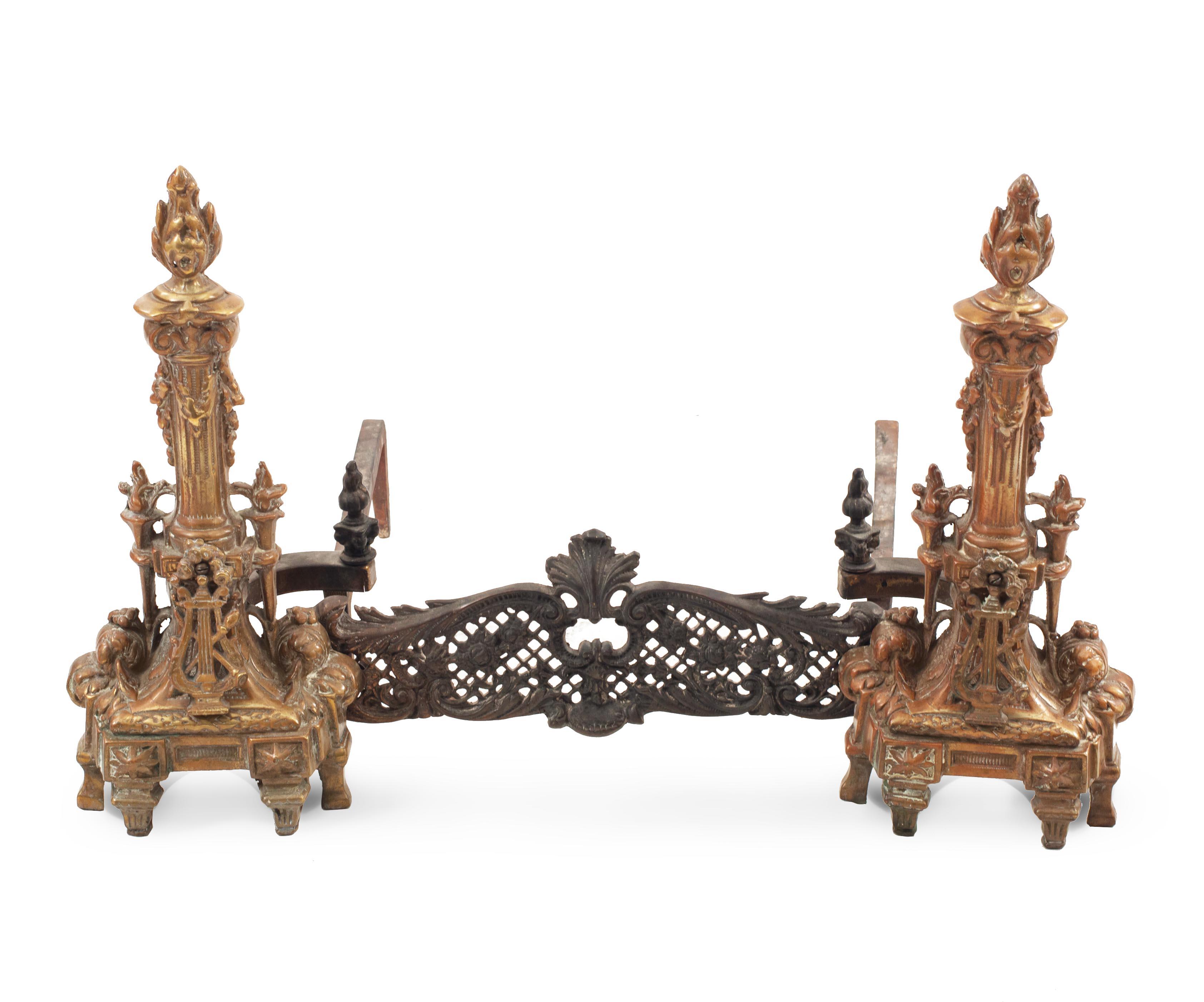 Astonishing French Directoire Bronze Andirons 1 Newel Theyellowbook Wood Chair Design Ideas Theyellowbookinfo