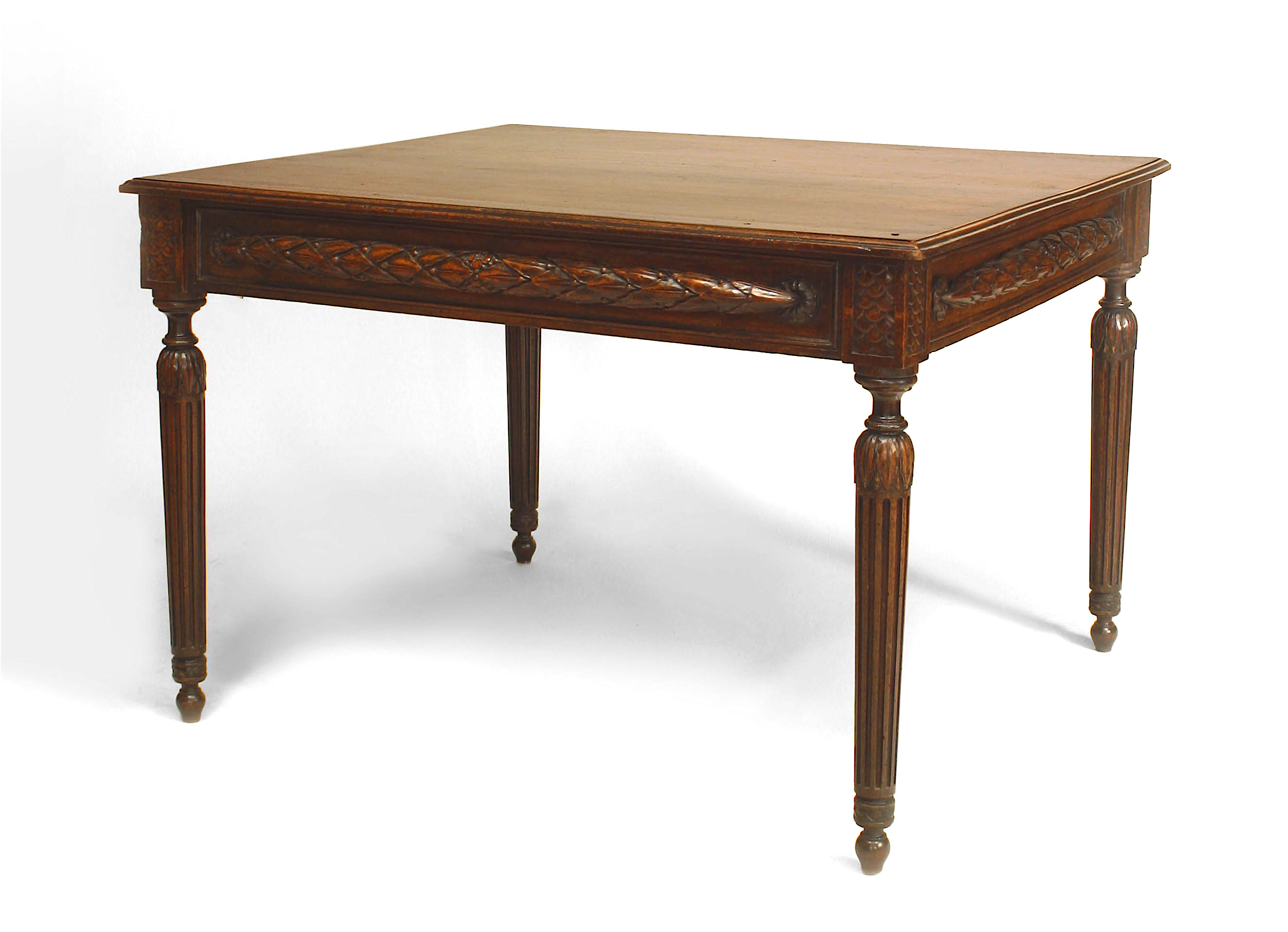 Awe Inspiring French Provincial Walnut Game Table Newel Bralicious Painted Fabric Chair Ideas Braliciousco