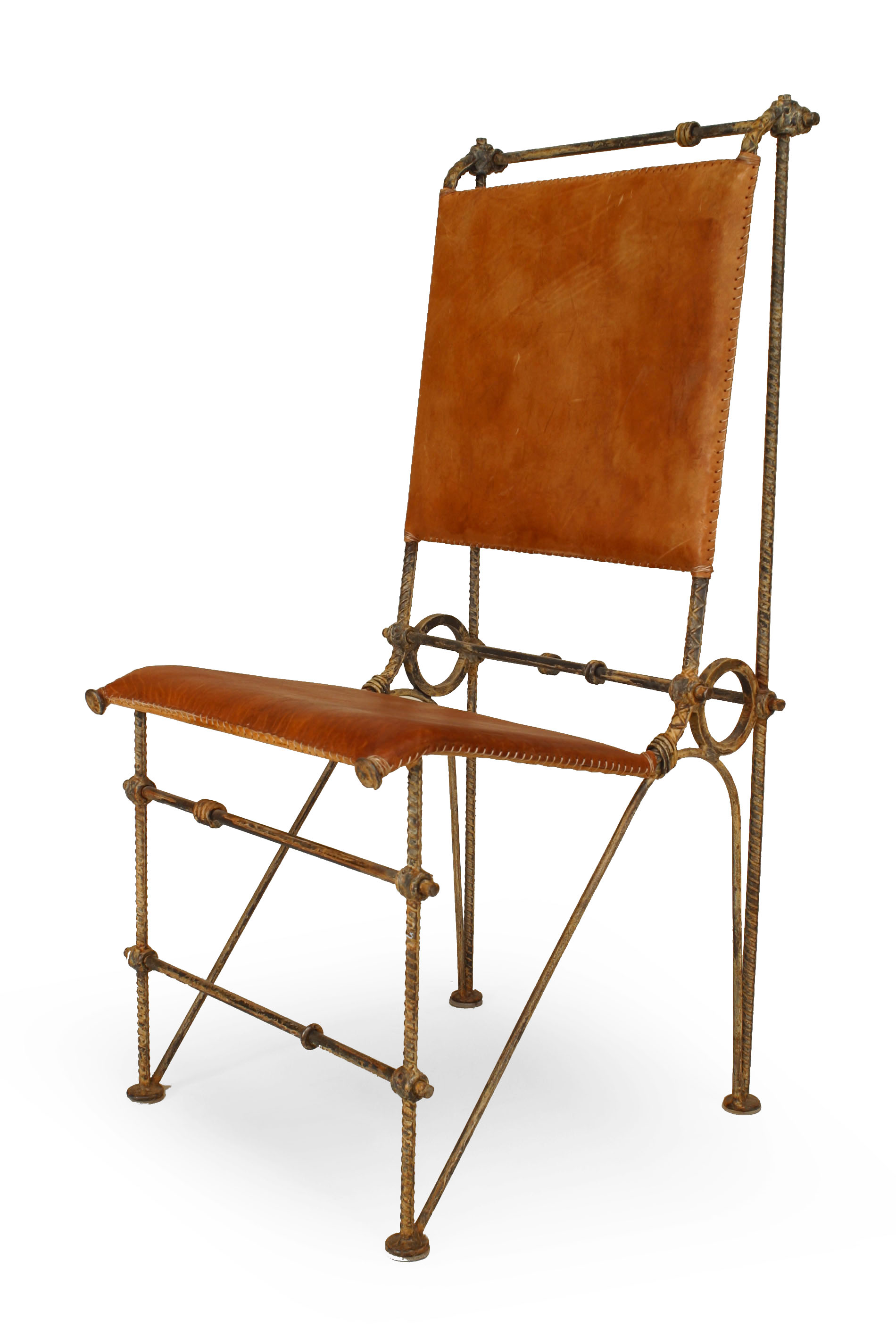 About A Chair 12 Side Chair.American Post War Leather Chairs Newel