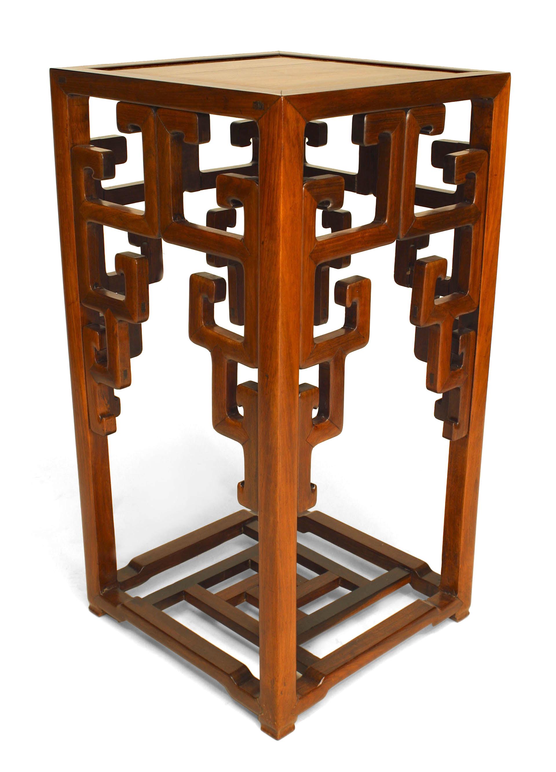 "stand display pedestal black Ebony wood China rosewood shelf 步步高黑檀木架子 13.4/""L"